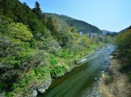 多摩川の清流